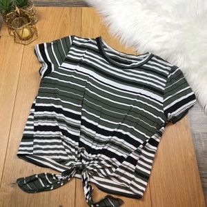 Striped Cropped Top #736